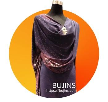 Premium Crepe Fabric Batik Jalinan Design - 4.3M