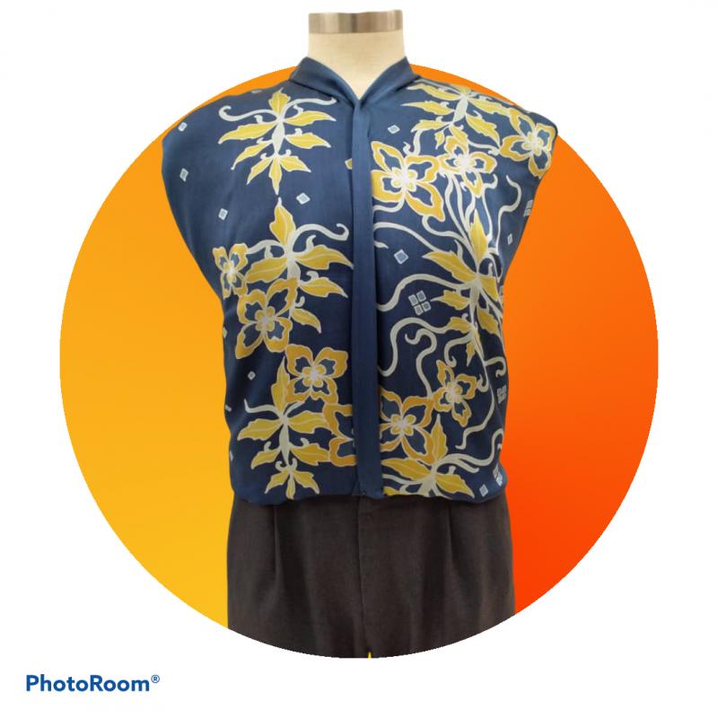 Men's Long Sleeves Batik Betta Fish Scales Design (L) - BUJINS