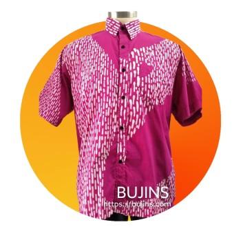 Men's Short Sleeves Cotton Batik Tuah Design (XL)