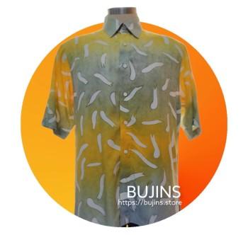Men's Short Sleeves Cotton Batik Alphabet Design (XL)