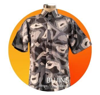 Ladies Top Floral Design -Crepe Silk (L) - BUJINS Batik