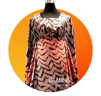 Premium Cotton Satin Fabric Batik Dragon Scales Design  2.9M