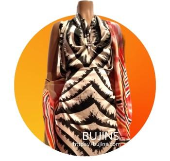 Premium Satin Fabric Batik Dragon Fire Design 2.5M