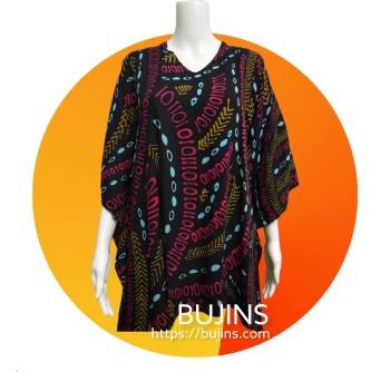 Cotton Kaftan Batik Ladies Top Binary Design (Free Size)