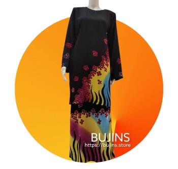 Cotton Batik Baju Kurung Classic Floral Design (M)