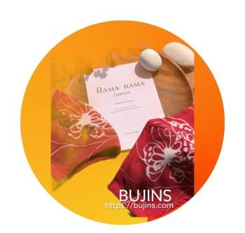 GMBB x Bujins Cotton Batik 3 Layers Face Mask - Rama-Rama Impian