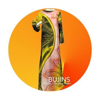 Premium Crepe Kaftan Ladies Batik Floral Design (S/M)