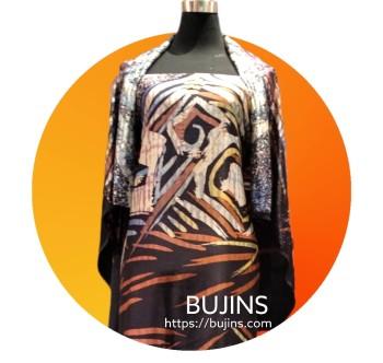 Premium Satin Fabric Batik Sarawak Design 2.5M