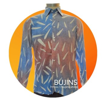 Men's Long Sleeves Cotton Batik Alphabet Design (M)