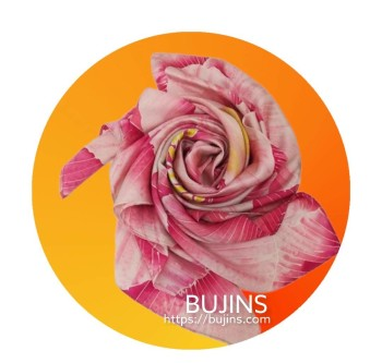 100% Pure Silk Batik Scarf  - Martha Sequioa - BUJINS Batik