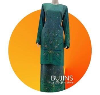 Cotton Batik Baju Kurung Classic Floral Design (L)