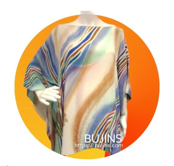 Crepe Kaftan Ladies Batik Keris Design (Free Size)