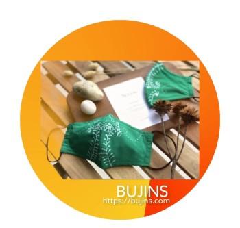 GMBB x Bujins Cotton Batik 3 Layers Face Mask - Sulur