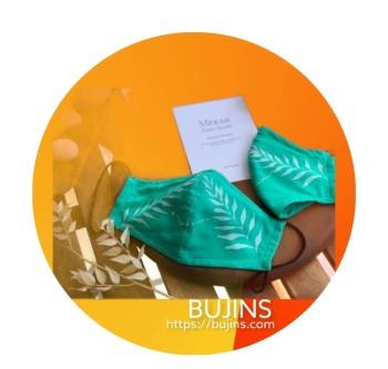 GMBB x Bujins Cotton Batik 3 Layers Face Mask - Mekar Yang Indah