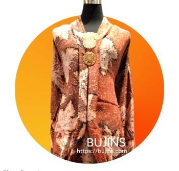 Premium Crepe Fabric Batik Maple Leaves Design - 4.3M