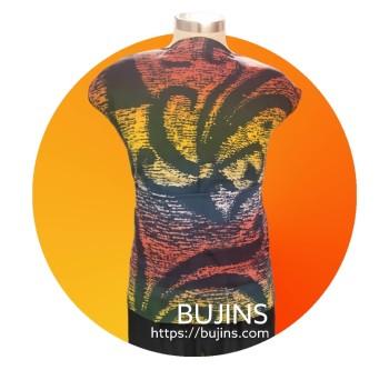 Bujins Cotton Fabric Batik Sarawak Design 2.4M