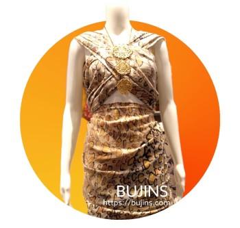 Premium Crepe Fabric Batik Animal Printed Design - 4.35M