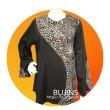 Ladies Cotton Batik Basic Demure Top (L) - BUJINS