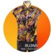 Premium Satin Fabric Batik Sentuhan Kasih Design - 2.5M - BUJINS