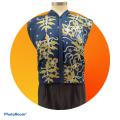 Premium Satin Fabric Batik Floral Mushaf Blue Design - 3.2M - BUJINS Batik