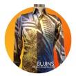Men's Long Sleeves Premium Satin Batik Jalinan Design (M) - BUJINS