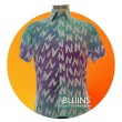 Men's Short Sleeves Cotton Batik Alphabet Design (M) - BUJINS