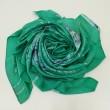 100% Pure Silk Batik Scarf  - Shamrock Green - BUJINS Batik