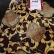 Premium Satin Fabric Batik Floral Mushaf Gold Design 3.15M - BUJINS Batik