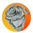 100% Pure Silk Batik Scarf  - Silver Pewter - BUJINS