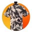 Men's Short Sleeves Cotton Batik Camouflage Design (S) - BUJINS