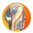 Crepe Kaftan Ladies Batik Keris Design (Free Size) - BUJINS