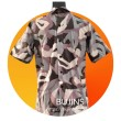 Men's Short Sleeves Cotton Batik Camouflage Design (XS) - BUJINS