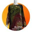 Ladies Top Floral Design -Crepe Silk (L) - BUJINS