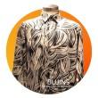 Men's Long Sleeves Premium Satin Batik Sentuhan Kasih Design (XL) - BUJINS