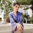 Satin Batik Ladies Top Mahsuri Design (Free Size) - BUJINS