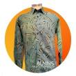 Men's Long Sleeves Cotton Batik Pendekar Design (L) - BUJINS