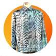 Men's Long Sleeves Batik Dragon Scales Design (XL) - BUJINS