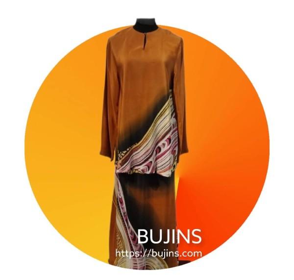 Baju Kurung Moden - Crepe Silk (M) - BUJINS Batik