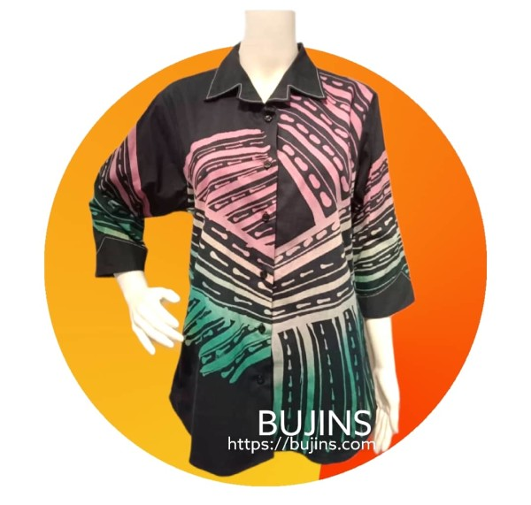 Ladies Cotton Batik Blouse Jalinan Design (XL) - BUJINS