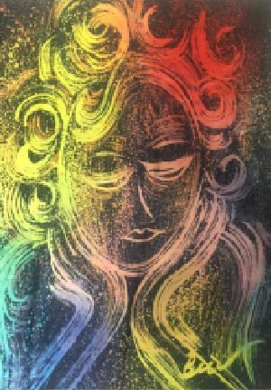 Redha Premium Satin Batik Painting 1.0M x 1.0M - BUJINS