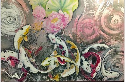 Gerak Sukma Premium Satin Batik Painting 1.96M x 1.20M - BUJINS