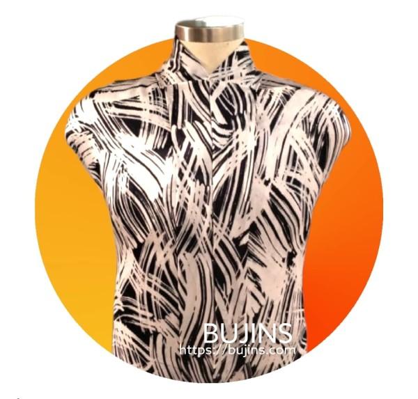 Premium Satin Fabric Batik Sentuhan Kasih Design - 2.7M - BUJINS