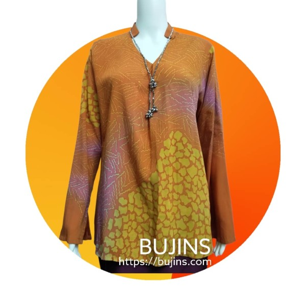 Cotton Batik Grace Ladies Top Jalinan Design (M) - BUJINS