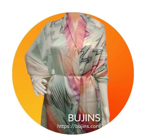 Premium Satin Fabric Batik Jalinan Design - 2.5M - BUJINS