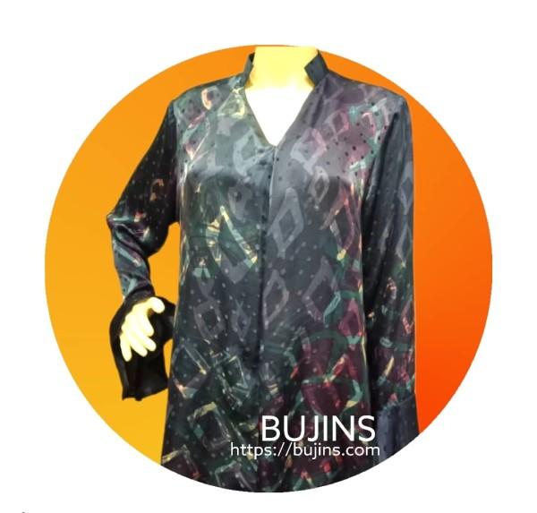 Satin Jacquard Batik Grace Ladies Top Jalinan Design (M) - BUJINS