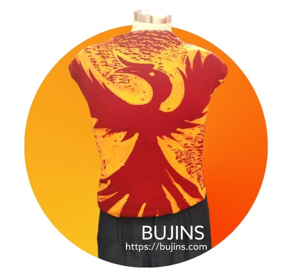 Bujins Cotton Fabric Batik Enggang Design 3.15M - BUJINS