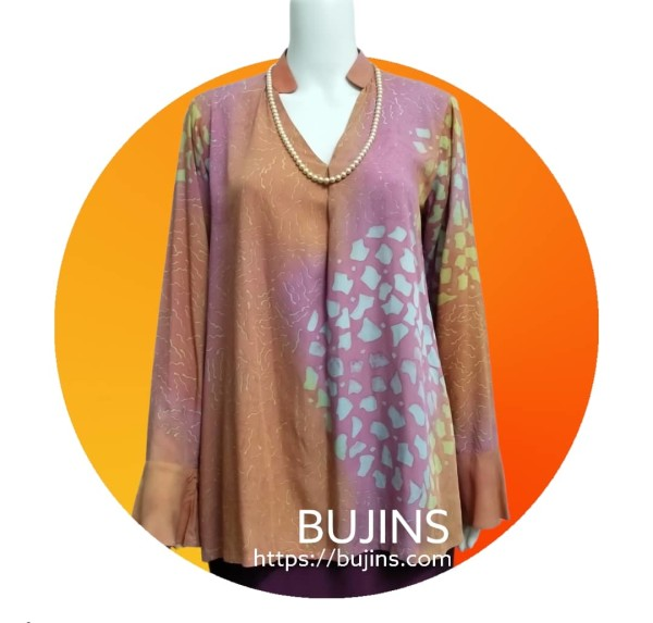 Cotton Batik Grace Ladies Top Jalinan Design (S) - BUJINS