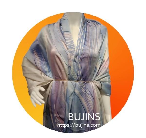 Premium Satin Fabric Batik Jalinan Design 2.6M - BUJINS