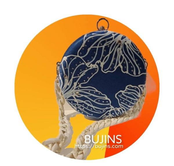 Premium Satin Batik Clutch Mekar Design -  (Crafted by Tasbijoux) - BUJINS