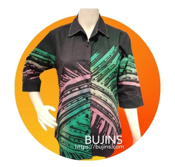 Ladies Cotton Batik Blouse Jalinan Design (S) - BUJINS